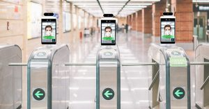 8 inch non-contact infrared body temperature access control display with facial recognition