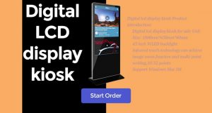 43inch digital lcd display kiosk for sale