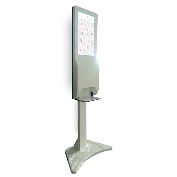 Hand Sanitizer display Soap Spray Sanitizer Totem Touch Screen Kiosk