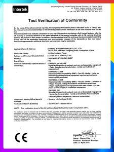 ITS CE EMC test verification of conformity