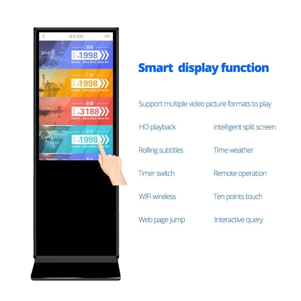SH4375AD digital lcd display kiosk for sale