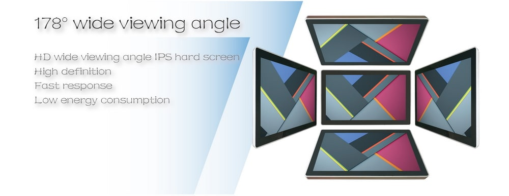 Wall mount lcd touch screen monitor