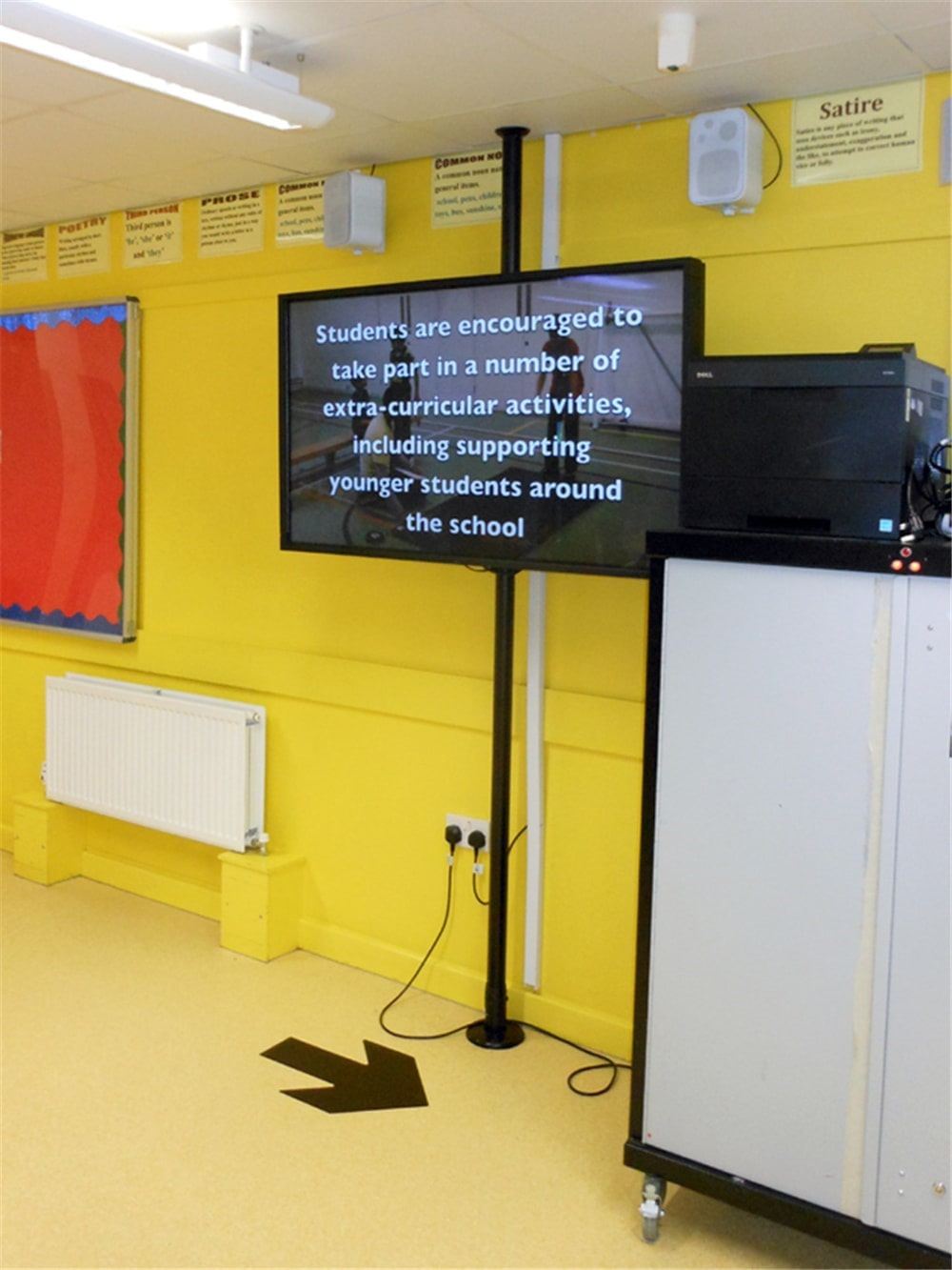 Education and digital signage display