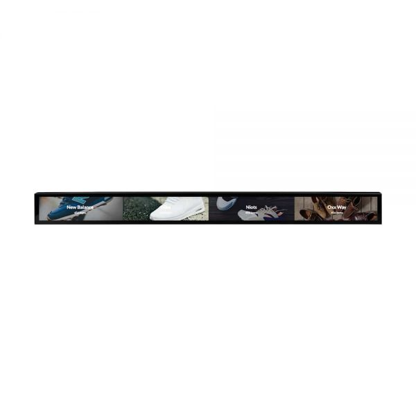 Stretched bar lcd display