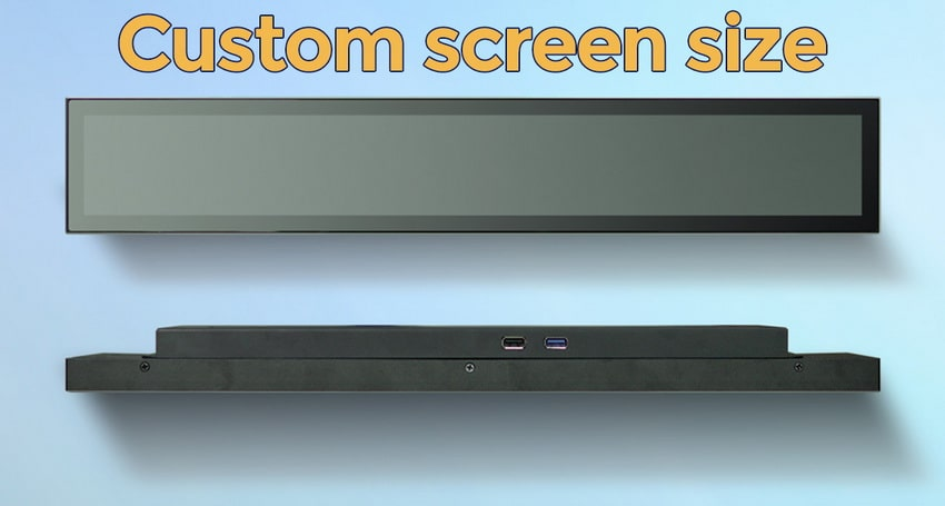 Ultra wide lcd display screen size can be customized