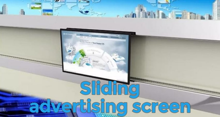 Sliding advertising screen
