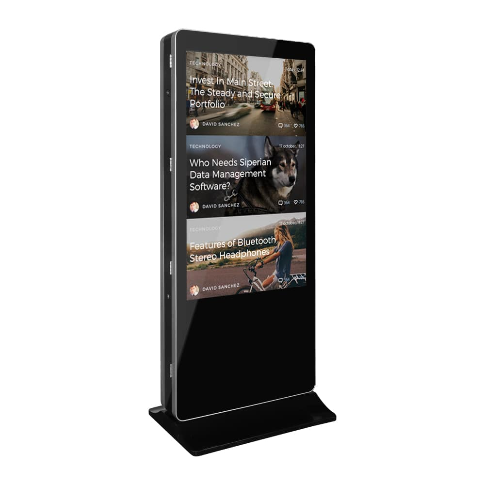 Lcd Advertising Double Side Kiosk