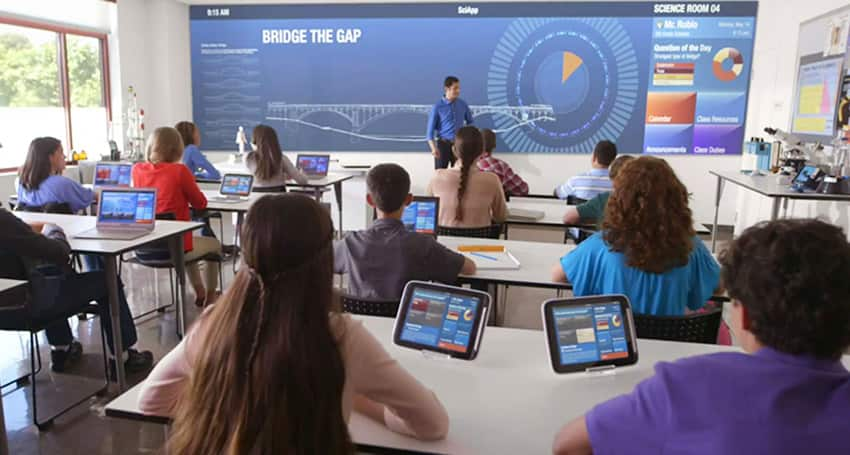 Guiding-Digital signage in Education