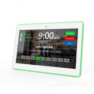 meeting room display booking tablet