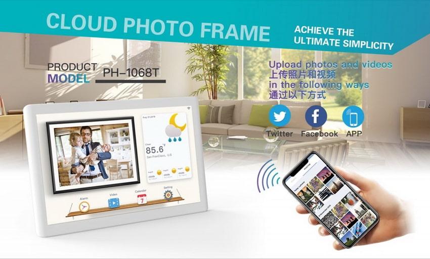 Cloud photo frame