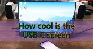 How cool is the USB C screen