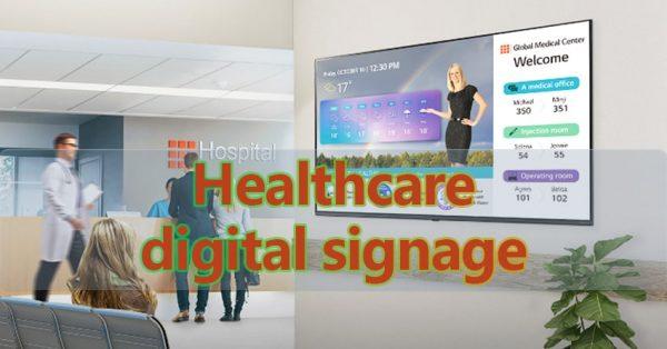 healthcare digital signage